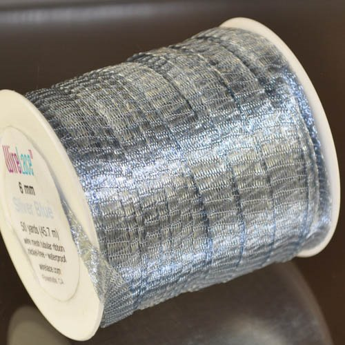 Stringing - 6mm Wire Lace Ribbon - Silver Blue (yard) Manager Special