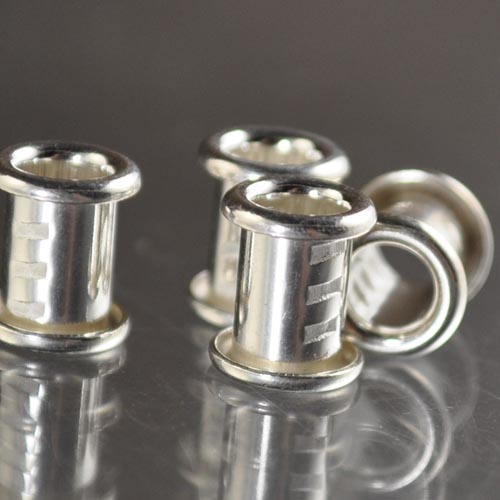 Findings - 1/4in Flared Bead Core with Threads - Bright Fine Silver
