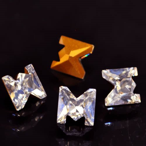 Swarovski Fancy Stone - Crystal Letters (Article 4889) - M (Gold Foiled)