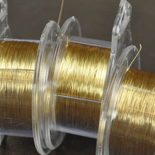 ParaWire - 32ga Round Wire - Gold (Spool)