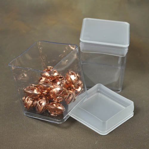 Packaging - Square Storage or Display Bins - Clear