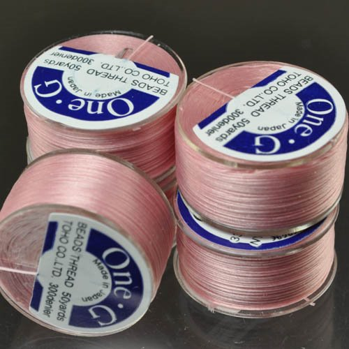 Toho Pink One G fray Free Beading thread