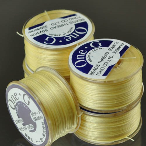 Thread - Toho One-G Beading Thread - Light Yellow (Spool)