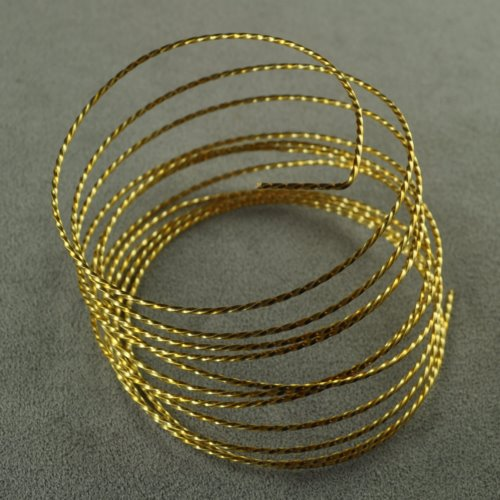 ParaWire - 18ga Twisted Wire - Gold Plated (Coil)
