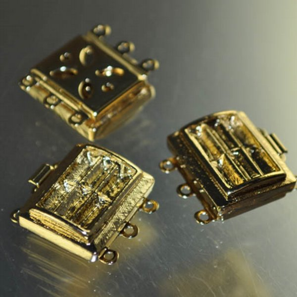 Box Clasp Rectangle for Baguette Rhinestones - Goldplated