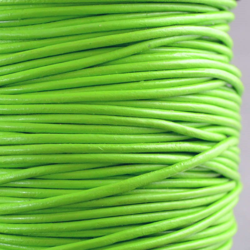 Stringing - 1.5mm Leather Cord - New Fern (1 Metre)