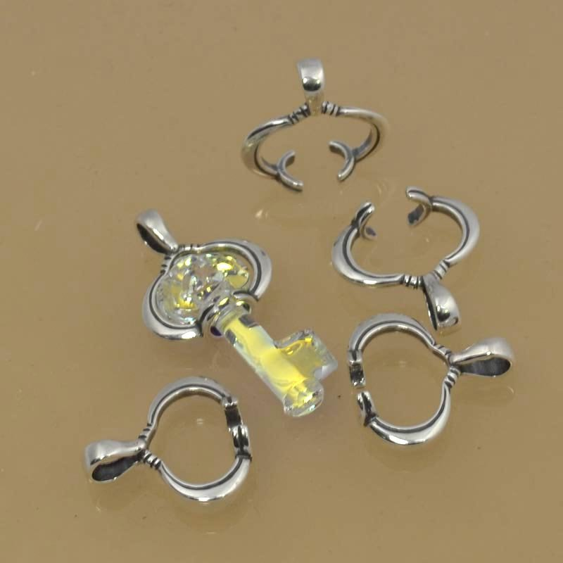 Findings - Bail - Small Swarovski Key Bail - Antiqued Silver