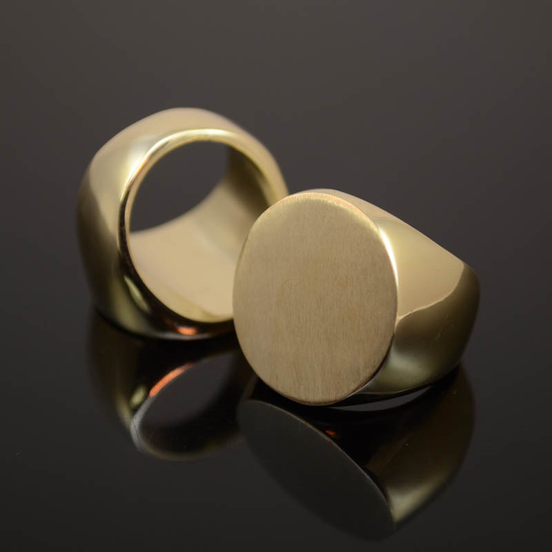 Findings - Size 6 Flat Circle Cast Ring - Goldplated Manager Special