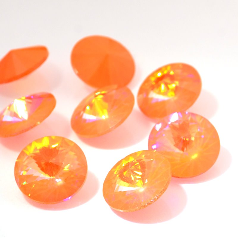 Swarovski Rhinestones - 16mm Rivoli Cut (1122) - Ultra Orange