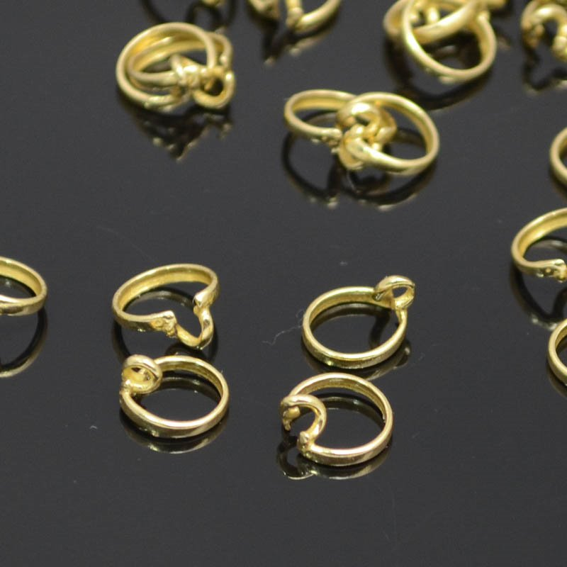Findings - ID 6mm Channel Bezel Ring with Loop - Bright Brass Manager Special