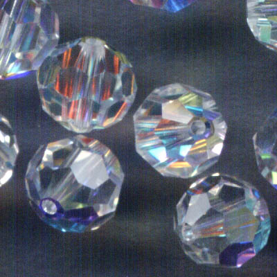 Swarovski Bead - 6mm Faceted Round (5000) - Crystal AB (10)