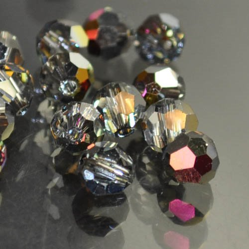 Swarovski Bead - 6mm Faceted Round (5000) - Crystal Volcano (10)