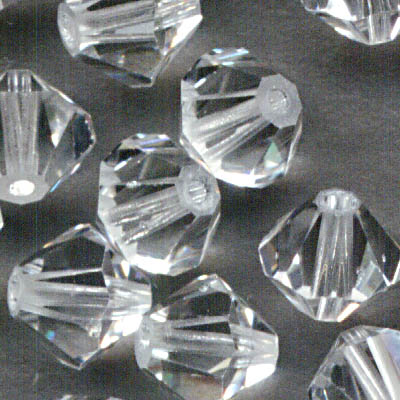 Swarovski Bead - 6mm Faceted Bicone (5301/5328) - Crystal (12)