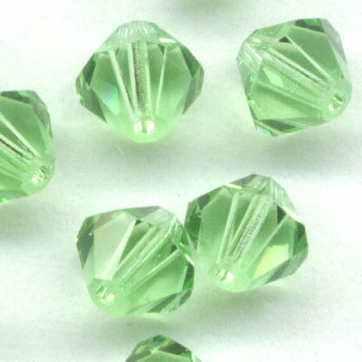 Swarovski Bead - 6mm Faceted Bicone (5301/5328) - Peridot (12)