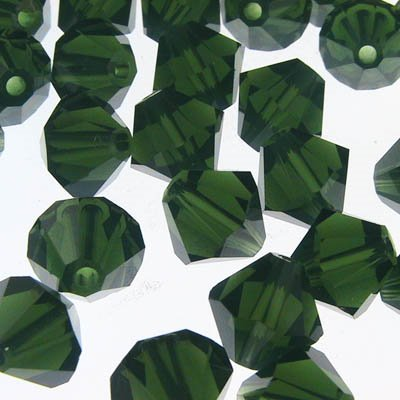 Swarovski Bead - 6mm Faceted Bicone (5301/5328) - Palace Green Opal (12)