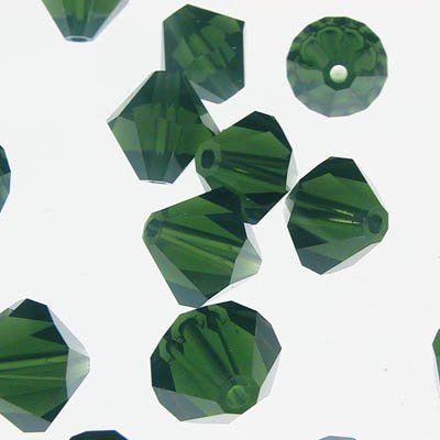 Swarovski Bead - 8mm Faceted Bicone (5301/5328) - Palace Green Opal (6)