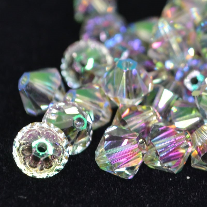 Swarovski Bead - 6mm Faceted Bicone (5301/5328) - Crystal Paradise Shine (12)