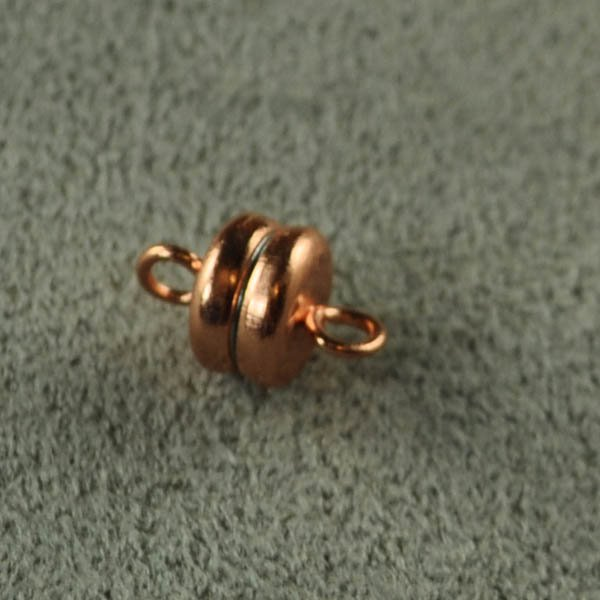 Magnetic Clasp Basic Flat Round 6mm - Bright Copper (6)