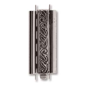 Clasp Beadslide Tube 29mm - Antiqued Silver