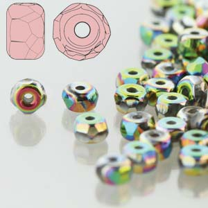 Firepolish - 2x3mm Faceted Micro Spacer Rondelle - Vitrail Full