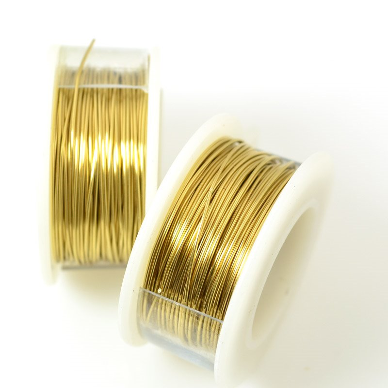 ParaWire - 22ga Round Wire - Faux Gold (Spool)