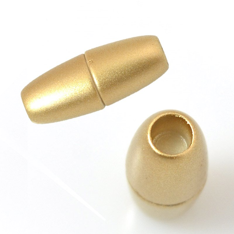 Clasp - Magnetic - ID 4mm Acrylic Magnet Bullet - Matte Gold