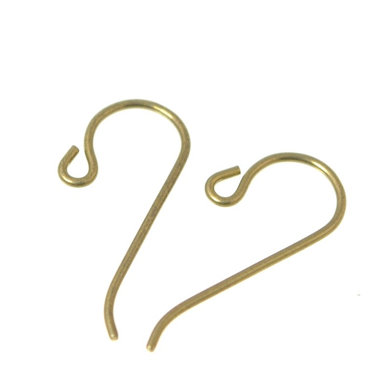 Earring - 20ga / 0.8mm Simple Shepherds Hook - Brass (Pair)