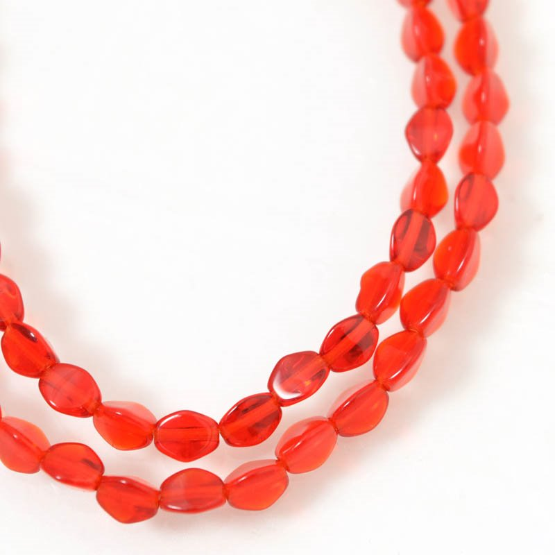 Glass Beads - 5mm Pinch Beads - Siam Ruby (strand 50)
