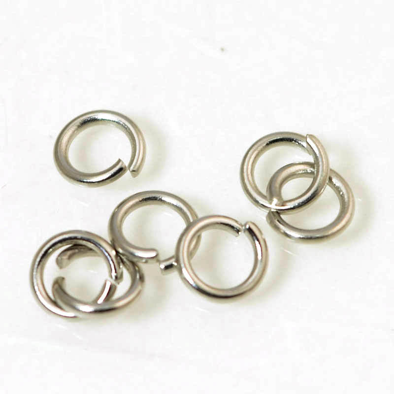 Jump Rings Open 6mm / 18ga - Stainless Steel (100)