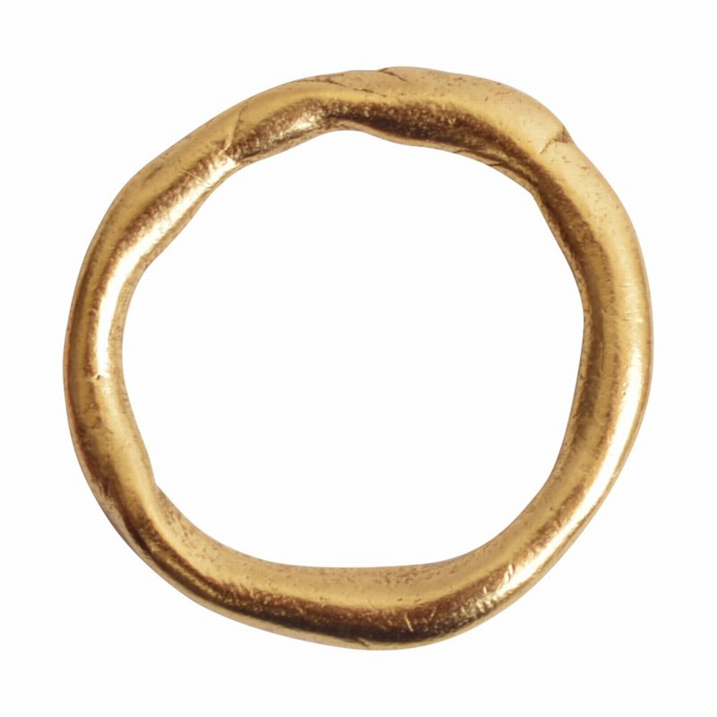 Findings - Connector Link - 30mm Organic Circle - Antique Gold