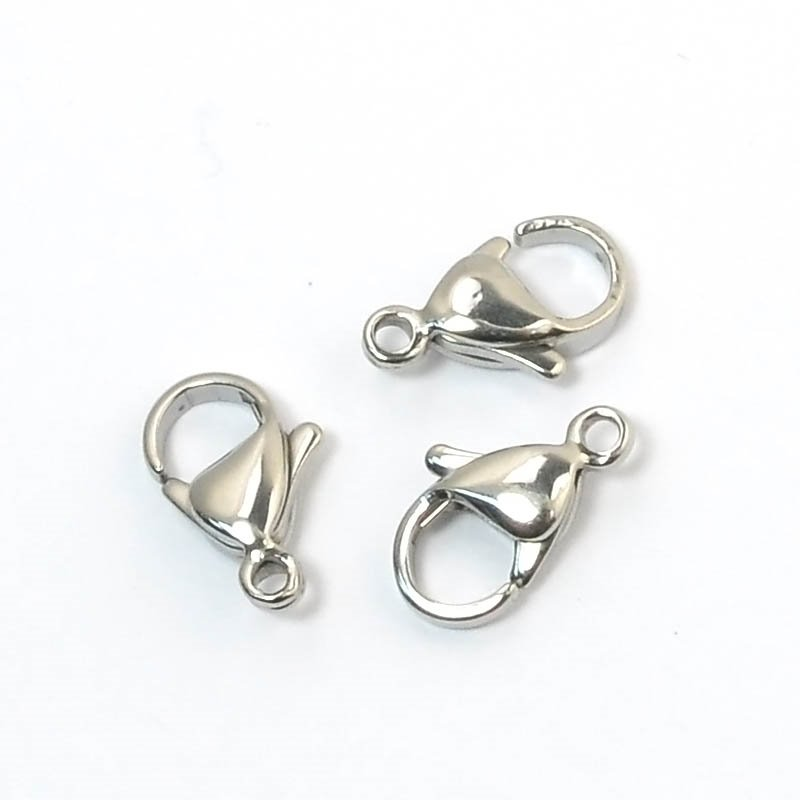 Lobster Clasp - 12mm - Stainless Steel