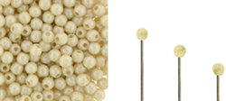 Wire End Cap - Finial Half-Drill Round End Bead - Champagne Lustre
