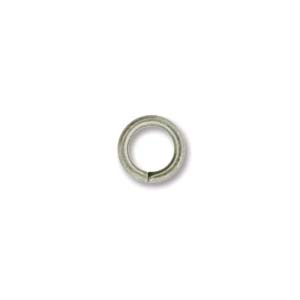 Jump Rings Open 6mm - Antiqued Satin Silver (144)