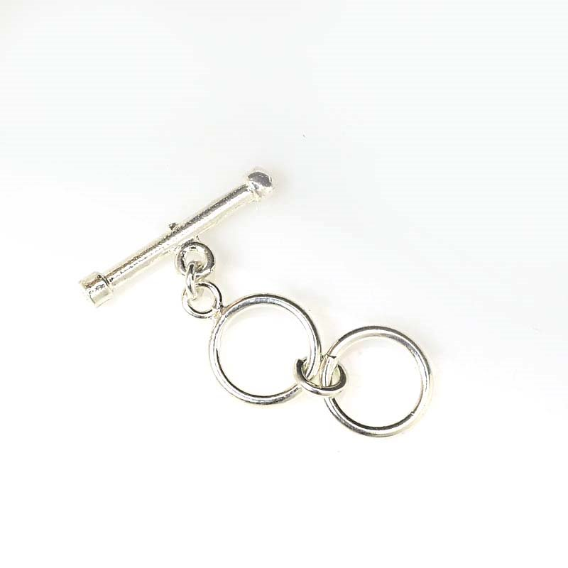 Toggle Clasp - 2 Ring Multi Adjustable - Bright Sterling