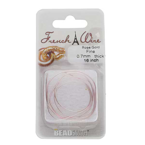 French Wire - Fine - Rose Gold (Pack)