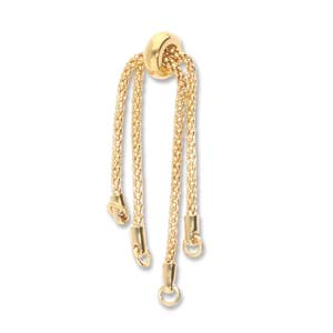 Chain with Clasp - DIY Partial Bracelet with Smart Bead Clasp - Gold Plated