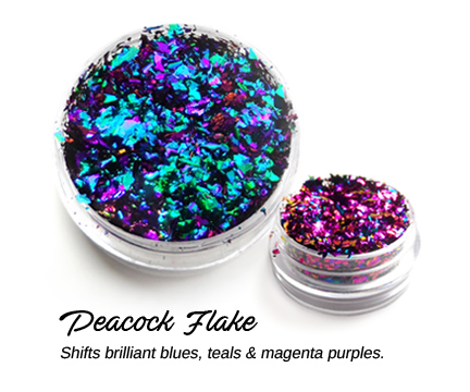 Creative Art Pigments - Lumiere Lusters Regular Flakes: - Peacock Flake (Jar)
