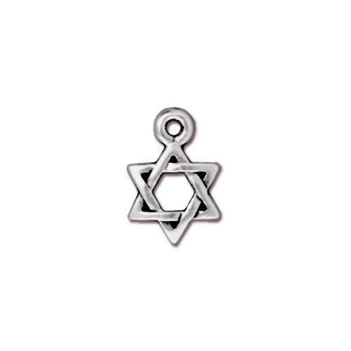 Charm - Star of David - Antiqued Silver (4)