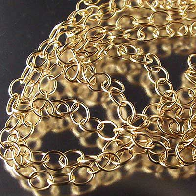 Chain - 2.6mm Cable Chain - Gold-filled (foot)