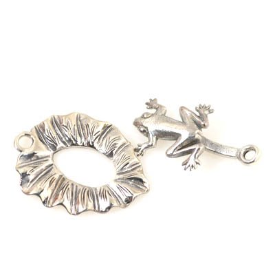 Clasp - Frog on a Lily Pad - Sterling