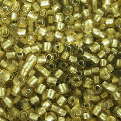 Japanese Seedbeads - 11/0 Toho Seedbeads - Frosted Silver-Lined Light Gold