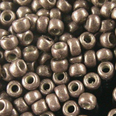Japanese Seedbeads - 8/0 Toho Seedbeads - Matte Galvanized Soft Mauve Chocolate