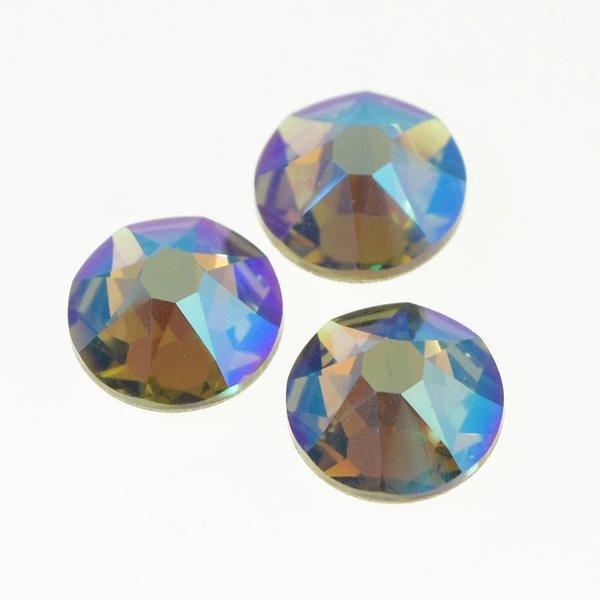 117015-030 Swarovski Rhinestones - ss40 Xirius Rose Flatback (2088) - Black Diamond Shimmer (24)