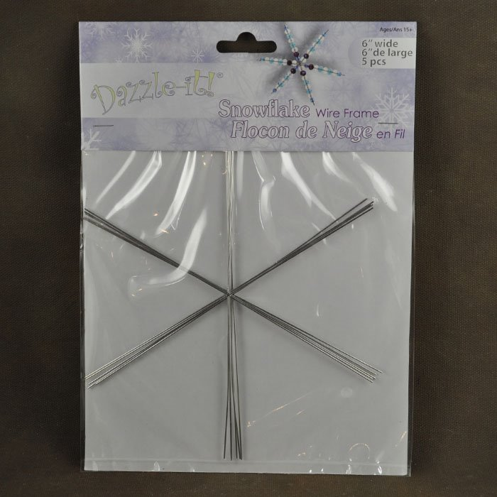 26003002 Wire Armature Form - 6in Snowflake Ornament (Pack of 5)