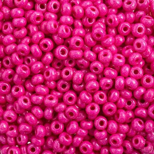 65443226 Czech Seedbeads - 6/0 Seedbead - Terra Intensive Pink  (20 grams)