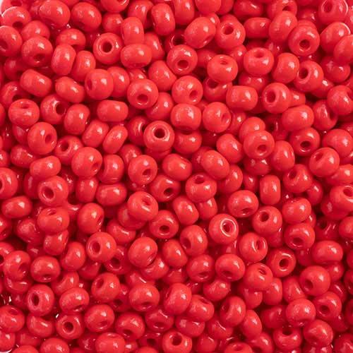 65443227 Czech Seedbeads - 6/0 Seedbead - Terra Intensive Red  (20 grams)