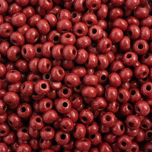 65443231 Czech Seedbeads - 6/0 Seedbead - Terra Intensive Brown  (20 grams)