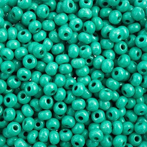 65443233 Czech Seedbeads - 6/0 Seedbead - Terra Intensive Dark Green  (20 grams)