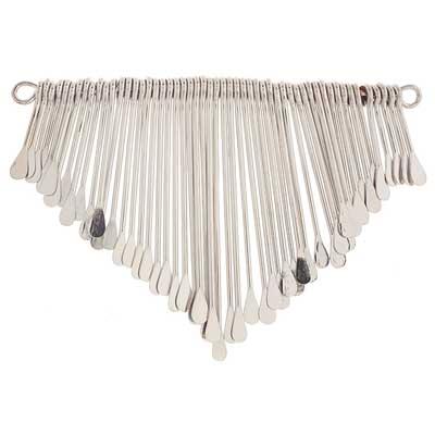 72709091-00 Pendant -  Paddle Fringe - Silver Plated