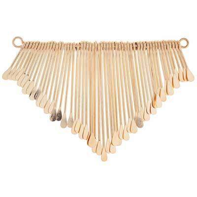 72709091-01 Pendant -  Paddle Fringe - Gold Plated